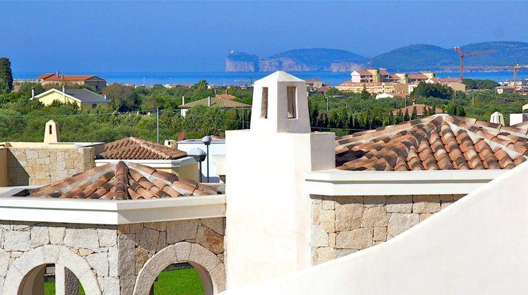 panoramica del resort vista blu, alghero